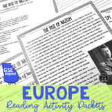 Europe Reading Activity Packets BUNDLE