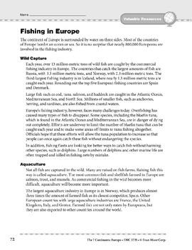 Europe: Resources: Fishing