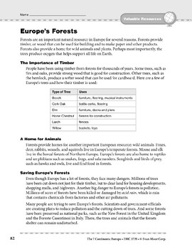 Europe: Resources: Forests
