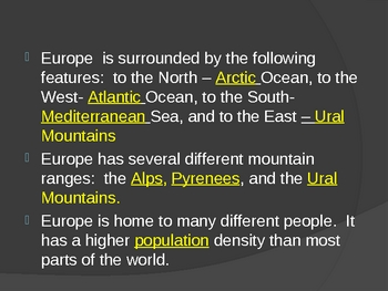 MODERN EUROPE GUIDED NOTE-TAKING POWERPOINT/PRESENTATION