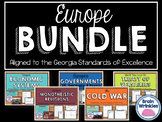 Europe Unit BUNDLE - Geography, History, Government, Economics, Etc.