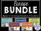 Europe Unit BUNDLE - Geography, History, Government, Econo