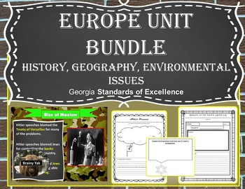 Europe Unit Bundle - History Geography Environmental Issues