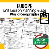 Europe Lesson Plan Guide for World Geography Back To School