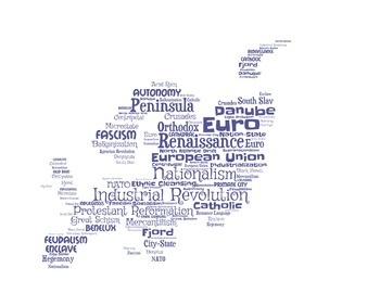 Europe Vocabulary Wordle