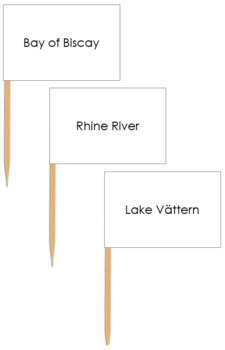 Europe Waterways Map Labels - Pin Map Flags