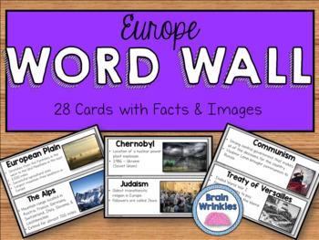 Europe Word Wall