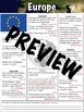 Europe Worksheet