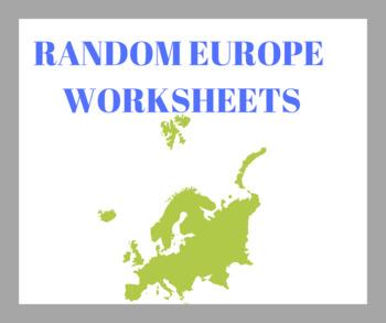 Europe Worksheets! (Bundle)