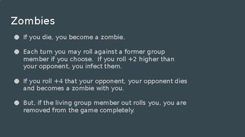 Europe Zombies Simulation Activity Game