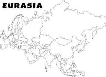 Europe and Asia Blank Map