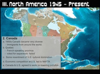 Europe & N. America 1945 to Present-Powerpoint w/ Video Links & Presenter Notes