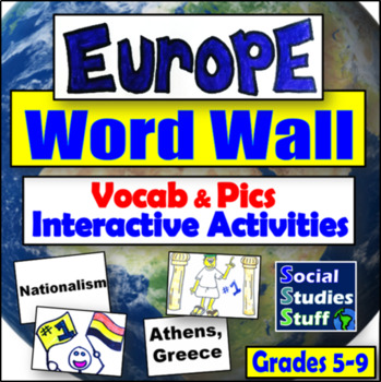 Europe and Russia Word Wall and Game/Activity Ideas