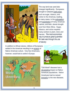 """""""The Columbian Exchange"""" + Assessment"""