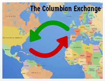 Columbian Exchange Map Worksheets Teaching Resources Tpt