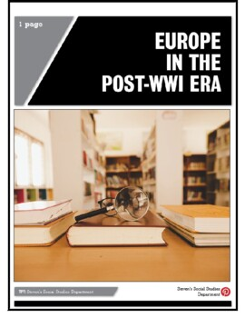 Europe in the Post-WWI Era