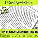 Europe's Environmental Issues Reading Activities BUNDLE (SS6G8)