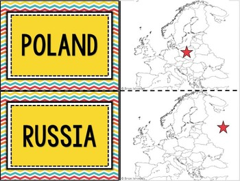 Europe's Geography Flashcards