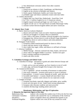 European Age of Exploration Outline and Vocabulary