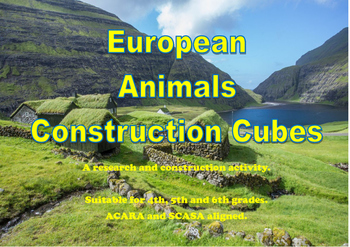 European Animal Construction Cubes