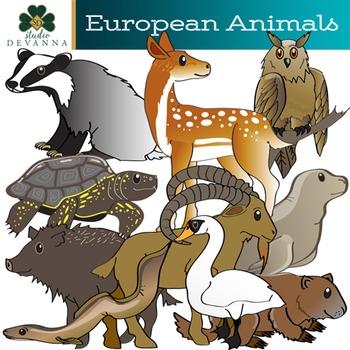 European Animals Clip Art