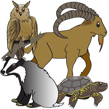 European Animals Clip Art