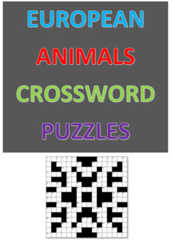 European Animals Crossword Puzzles