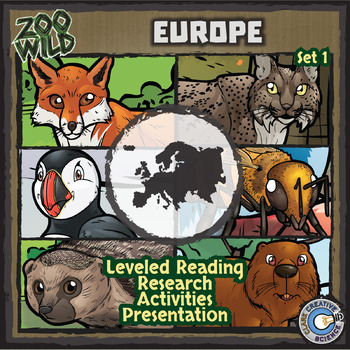European Animals - Starter Bundle - Leveled Reading, Slides & Activities