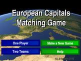 European Capitals Interactive Matching Pairs Game