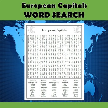 European Capitals Worksheets & Teaching Resources   TpT