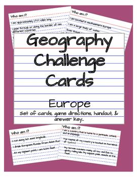 European Clue Card Challenge