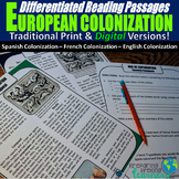 European Colonization Differentiated Reading Passages