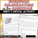 European Colonization in America Print and Digital Activity