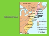 European Colonization of the Middle and Southern Colonies