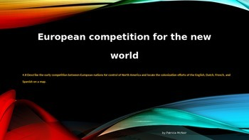 European Competition for the New World