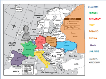 European Geography  SS6G8