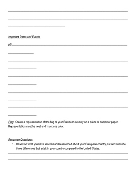 European Countries Research Information Sheet