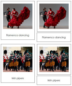 European Culture: 3-Part Cards
