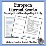 European Current Events and News Geography Activity