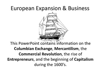European Expansion (Mercantilism to Capitalism) PDF