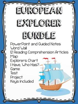 European Exploration Bundle- Power Point, Reading Comprehension, Project