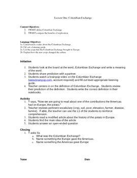 European Exploration Grade 8 Social Studies Columbian Exchange