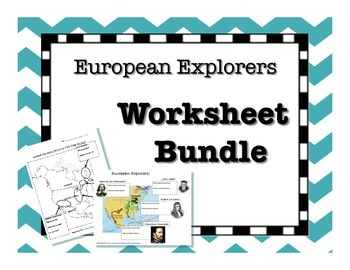 European Explorers Graphic Organizer BUNDLE!