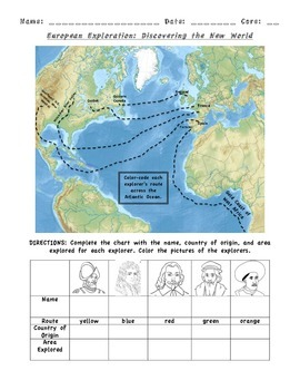 European Exploration Map