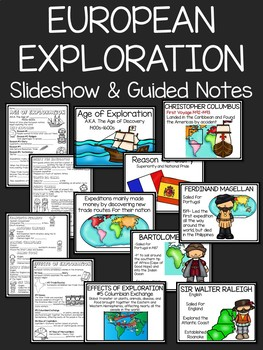 European Exploration Power Point with Guided Notes. Age of Discovery, Columbus