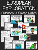 European Exploration Slideshow with Guided Notes and Word Wall