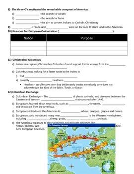 US History 8 European Exploration PowerPoint Notes