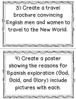 European Exploration Task Cards