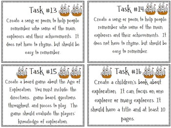 European Exploration Task Cards; No-Prep; Differentiation
