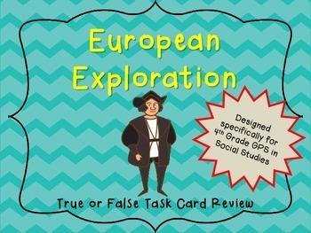 European Exploration True or False Task Cards